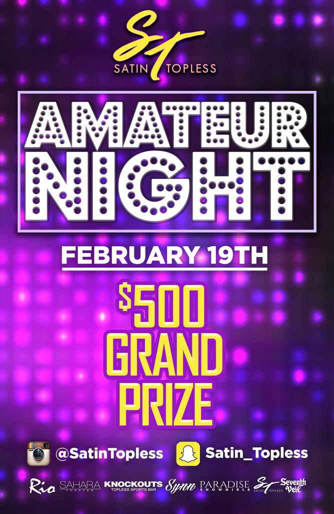 AMATEUR NIGHT $500 CASH PRIZE